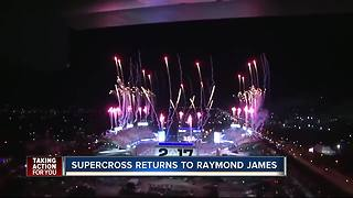 Supercross is coming to Tampa's Raymond James Stadium in 2018 - Video