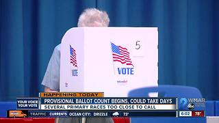 Provisional ballot count begins, could take days - Video