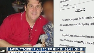 Tampa attorney plans to surrender legal license - Video