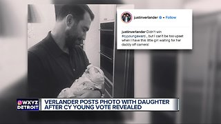 Justin Verlander posts photo with infant daughter after Cy Young results