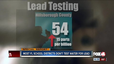Most Florida school districts don't test for lead on campus, our investigation finds