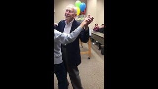 Watch How This Professor Surprises Her Husband For His 89th Birthday!
