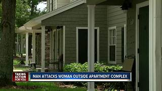 Man attacks woman outside Spring Hill apartment - Video