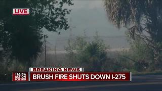 Brush fire shuts down I-275