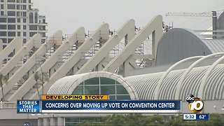 Concerns over moving up vote on convention center expansion