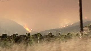 California's Whittier Fire Grows by 4,000 Acres Overnight - Video