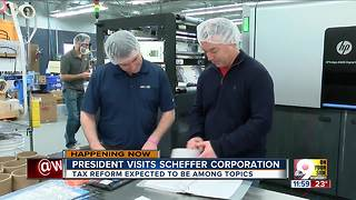 President Trump in Cincinnati: President to promote benefits of Republican tax plan at Blue Ash company - Video