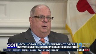 Governor Hogan orders a commission be set up to address congressional districts in Maryland