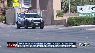 Man shot in possible domestic-related incident