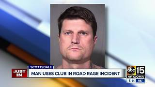 Man accused of beating victim's car after Scottsdale road rage incident - Video