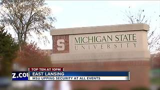 Michigan State increasing police presence, security at campus events - Video