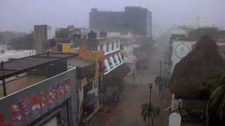 Tropical Storm Franklin Hits Playa del Carmen - Video