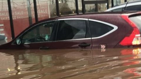 New Jersey Flash Flood Swamps Cars, Stores
