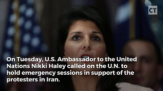 Haley Pledges to Support Iran Demonstrators - Video