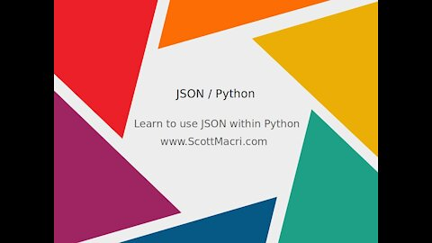 Learn to use JSON within Python