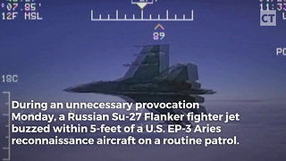 Military Releases Video Of Russian Fighters Aggressive Maneuver - Video