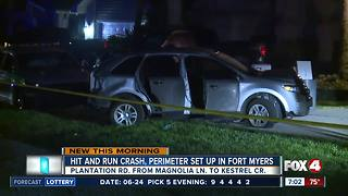 Hit and run crash reported in Fort Myers Monday morning