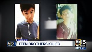 Family and friends remember teen brothers killed - Video