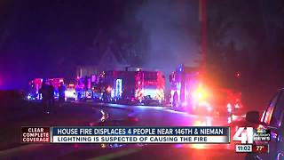 Lightning likely cause of OP house fire - Video
