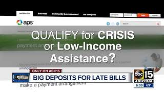 Big deposits for late bills - Video