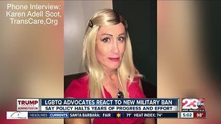 Local reaction: President Trump's transgender military ban - Video