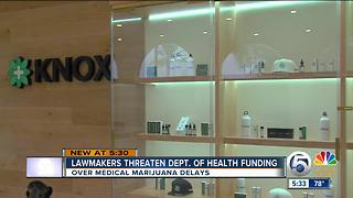 Lawmakers threaten Department of Health funding after medical marijuana delays in Florida - Video