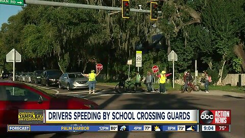 Drivers caught on video not stopping for Florida crossing guard in local school crosswalk