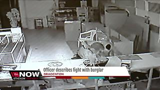 Officer pistol-whips burglar out cold after attack
