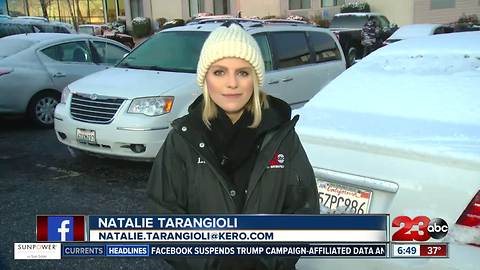 Snow and rain affecting travel on the Grapevine