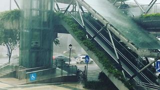 Heavy Rains Hit the Streets of Foshan as Tropical Storm Ewiniar Passes Southern China - Video