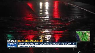 Heavy rain causes flooding around San Diego County - Video
