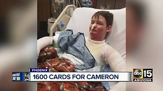 Tucson boy who suffered second-degree burns asking for birthday cards - Video