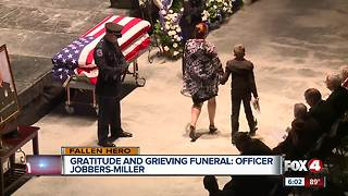 Funeral honors Fort Myers Police Officer killed in the line of duty - Video