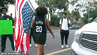 Man and Pregnant Wife Blocked by BLM Mobs