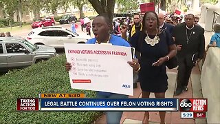 Legal battle continues over felon voting rights