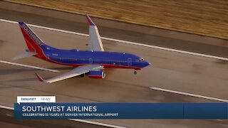 Southwest Airlines celebrating 15 years at DIA