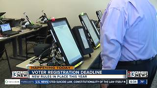Voter registration deadline is May 24 - Video