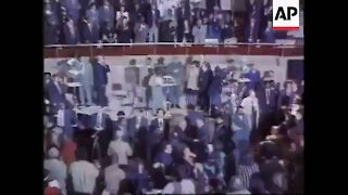 Fidel Castro getting a standing ovation at Raphael Warnock's church
