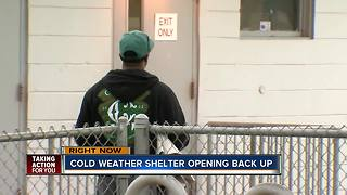 Cold weather shelters open again