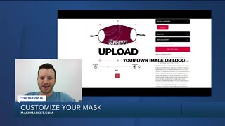 Customizing your own face mask with Mask Market