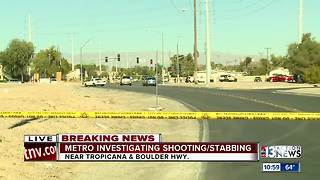 Shooting and stabbing near Tropicana and Boulder Highway - Video