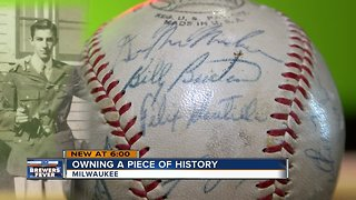 Owning a piece of Milwaukee Braves history