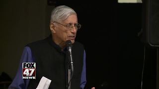 Gandhi's grandson speaks to Waverly High School students