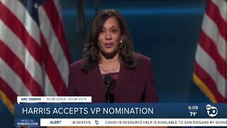Harris accepts VP nomination, Obama criticizes Trump at DNC