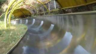 Tourist Takes Us on a Toboggan Ride - Video