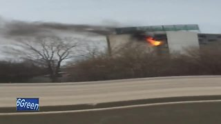 Firefighters battle fire at Holiday Inn in Grand Chute - Video