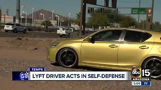 Lyft driver reinstated after defending self in Tempe - Video