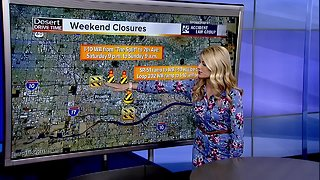 Weekend road closures around the Valley