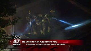 No one hurt in Lansing apartment fire - Video