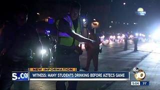 Witness: Many students drinking before Aztec game - Video